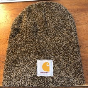 Carhartt Knit Hat A205 Dark Brown/Sandstone OS new